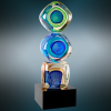 Stacked Blocks Art Glass Artistic Awards