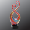 Multi Color Multi Twist Art Glass Artistic Awards
