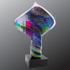 Diamond Color Twist Art Glass Artistic Awards