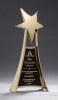 Star Casting Trophy in Gold Tone Finish Cast Awards