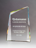 Pinnacle Series Freestanding Crystal Award with Prism-Effect Coating Crystal Awards