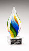 Rainbow Colored Twist Art Glass Award Glass Awards