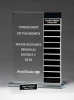 Jade Glass Award with 12 Individual Blocks Glass Awards