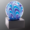 2 Tone Blue/White Sphere Art Glass Glass Awards