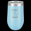 Double Wall Insulated Stemless Tumbler -Light Blue Insulated Stemless Wine Tumblers 16oz