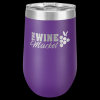 Double Wall Insulated Stemless Tumbler -Purple Insulated Stemless Wine Tumblers 16oz