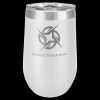 Double Wall Insulated Stemless Tumbler -White Insulated Stemless Wine Tumblers 16oz