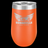 Double Wall Insulated Stemless Tumbler -Orange Insulated Stemless Wine Tumblers 16oz