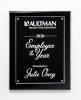 Clear Acrylic Plate on Black High Gloss Plaque Recognition Plaques