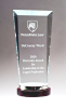 Premium Series Glass Award with Rosewood and Aluminum Base Wood & Glass Awards