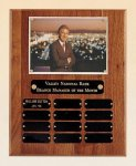 American Walnut Photo Perpetual Plaque 12 Plate Perpetual Plaques