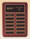Rosewood Piano Finish Perpetual Plaque 12 Plate Perpetual Plaques