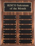 Walnut Finish Perpetual Plaque 12 Plate Perpetual Plaques