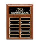 Walnut Piano Finish Perpetual Plaque 12 Plate Perpetual Plaques