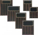 Step Edge Genuine Walnut Perpetual Plaque 12 Plate Perpetual Plaques