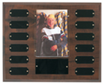Cherry Finish Photo Perpetual Plaque 12 Plate Perpetual Plaques