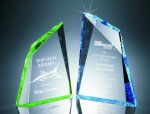 Faceted Mountain Cut Acrylic Award Achievement Acrylic Awards
