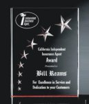 RIST-7 3 Dimensional Carved Star Plaque Achievement Acrylic Awards