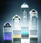 Fluted Pillar Acrylic Award Achievement Acrylic Awards