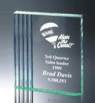 Fluted Side Acrylic Award Achievement Acrylic Awards