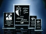 Back Beveled Black Painted Plaque Achievement Acrylic Awards