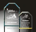 Beveled Clipped Corner Plaque Achievement Acrylic Awards
