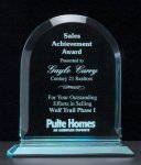 Arch Series Acrylic Award on Acrylic Base. Achievement Acrylic Awards