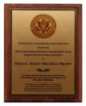 Full-Color Sublimated Walnut Plaque - Always in stock! Achievement Awards