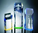 Hexagon Top Tower Acrylic Award Achievement Awards