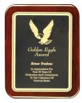 Rosewood Piano Finish Rounded Plaque - Elegant Face Plate Achievement Awards