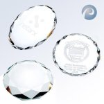 Oval/ Round/Octagon/Rectangle Faceted Paperweight options Achievement Awards