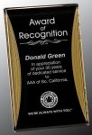 Black/Gold Standing Reflection Acrylic Award Recognition Plaque Acrylic Plaques