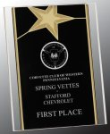 Black/Gold Standing Star Acrylic Recognition Plaque Acrylic Plaques
