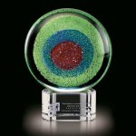 Trento Art Glass with Crystal Base Artistic Glass Awards