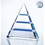 Luxor Blue Optical Crystal Awards