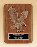 American Walnut Plaque with Eagle Casting Cast Awards
