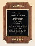 American Walnut Plaque with Decorative Accents Cast Relief Plaques