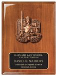 Walnut Piano Finish Plaque Cast Relief Plaques
