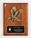 Walnut Piano Finish Eagle Plaque Cast Relief Plaques