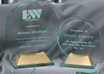 Crystal Circle On Base Large Clear Glass Awards