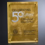 Gold Alloy Plaque Clear Optical Crystal Awards