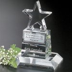Champion Pedestal Star Clear Optical Crystal Awards