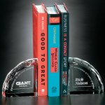 Bookends Clear Optical Crystal Awards