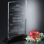 Asheville Rectangle Clear Optical Crystal Awards