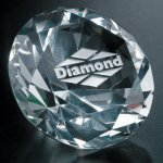 Diamond Paperweight Clear Optical Crystal Awards