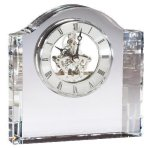 Crystal Clock Clear Optical Crystal Awards
