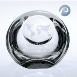 Globe Dome Paper Weight Clear Optical Crystal Awards