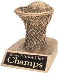 Basketball - Gold Resin Trophy Closeout - Resins