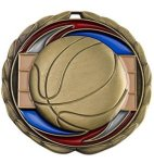 CEM Medal -Basketball Color Epoxy Medallions