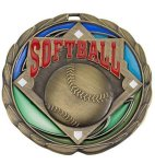 CEM Medal -Softball  Color Epoxy Medallions